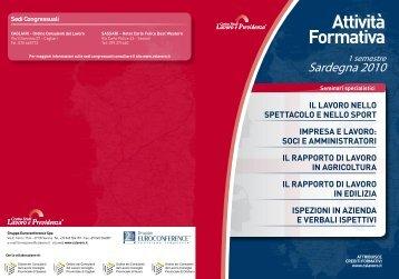Scarica la brochure completa di tutti i seminari - Centro Studi Lavoro ...