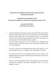 Declaration of the Management Board and the Supervisory Board of ...