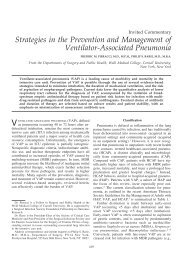 Strategies in the Prevention and Management of Ventilator ...