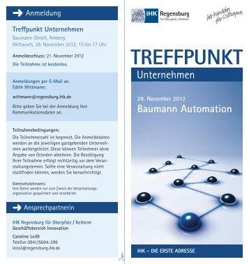Treffpunkt Unternehmen - IHK Regensburg