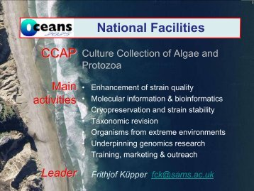 3. Culture Collection of Algae and Protozoa (Frithjof ... - Oceans 2025