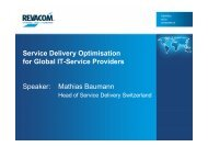 Service Delivery Optimisation for Global IT-Service Providers ...