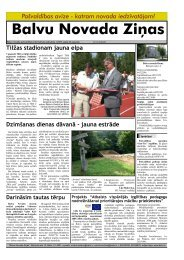 Balvu Novada Ziņas Nr.1 - Balvi