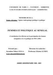 FEMMES ET PRATIQUE POLITIQUE……... - Droits de l'Homme et ...