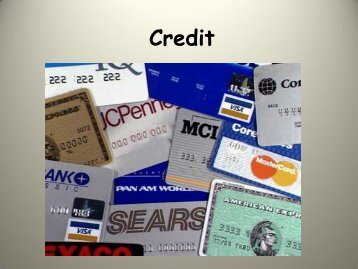 Credit PowerPoint