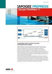 APOGEE PREPRESS Apogee PlateMaker 7.1 - Baumann
