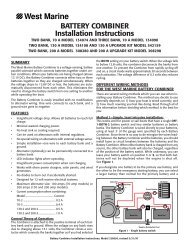 BATTERY COMBINER Installation Instructions - West Marine