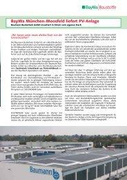 BayWa München-Moosfeld liefert PV-Anlage - Schuchhardt