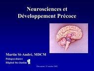 Neurosciences et Développement Précoce - Regroupement.net