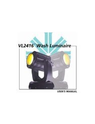 VL2416 Wash Luminaire User Guide - Vari-Lite