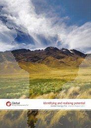 Interim Report 2011 - Global Energy Development