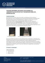 Synthese mikrobieller Exopolysaccharide als Lebensmittelzusatzstoff