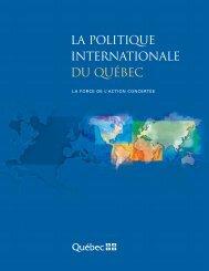 Politique internationale - Ministère des Relations internationales