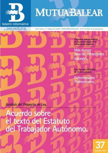 Boletín nº 37 - diciembre de 2006 - Mutua Balear