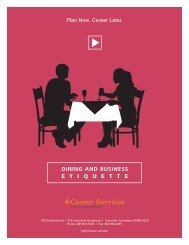 Guide – Dining and Business Etiquette - Career Services