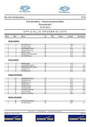 Ski Club Hinterzarten SVS Schülerskifest - Vereinsmeisterschaften ...