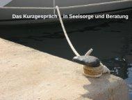 Das Kurzgespräch in Seelsorge und Beratung - gesamtkonvent.de