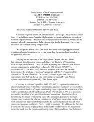 Karen Smith 99-05405 - Workers' Compensation Board (WCB)