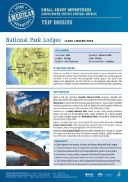 National Park Lodges 16 Day LoDging Tour - Adventure holidays