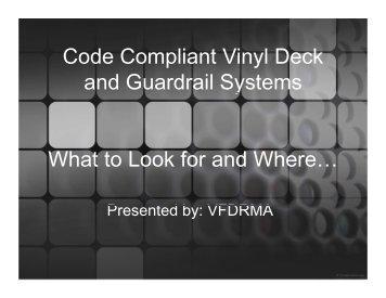 Vinyl Deck Railing - Profencesupply.com