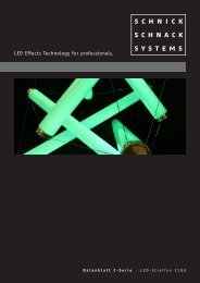 LED Effects Technology for professionals. - Schnick-Schnack-Systems