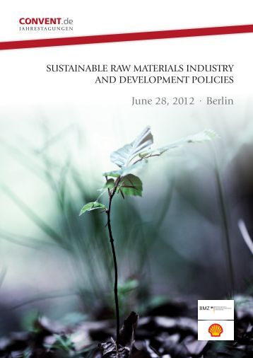 sustainable raw materials industry and development ... - Convent