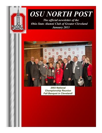 OSU NORTH POST - OSU Alumni Club Of Greater Cleveland