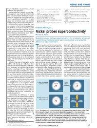 Nickel probes superconductivity - University of Iowa