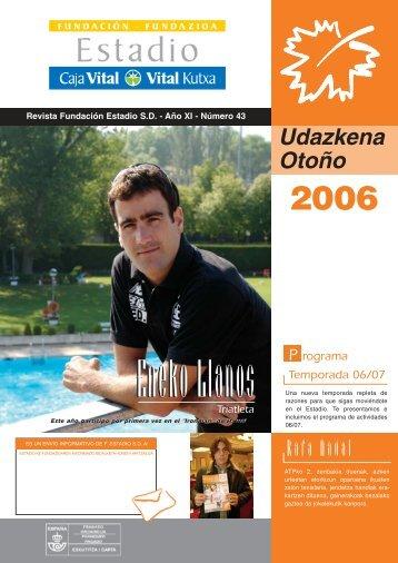 ESTADIO revista Otoño2006 - Fundación Estadio