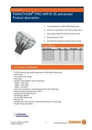 PARATHOM PRO MR16 35 advanced - Osram
