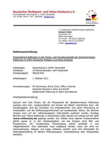 Deutscher Rollsport- und Inline-Verband e.V. - Rollhockey