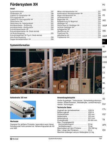 Fördersystem XH - FlexLink