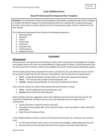 Ecia Director Professional Development Plan Template - Early