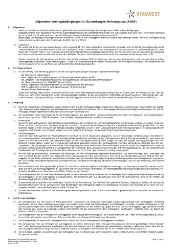Allg. Vertragsbedingungen für Bauleistungen - Vivawest Wohnen ...