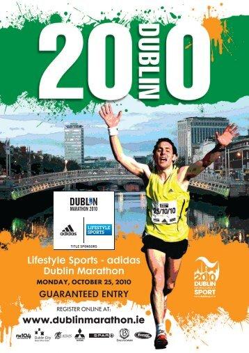Lifestyle Sports - adidas Dublin Marathon www.dublinmarathon.ie ...