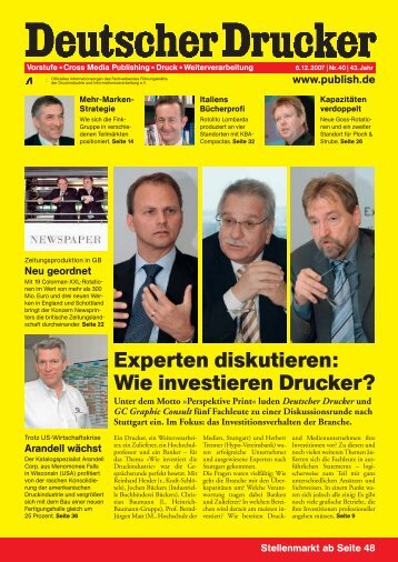 Experten diskutieren: Wie investieren Drucker? - Industriellen ...