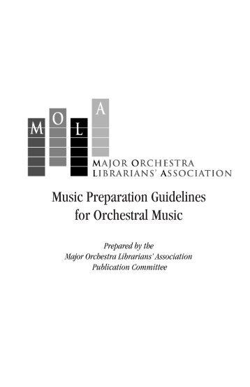 Music Preparation Guidelines for Orchestral Music - Milwaukee ...