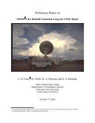 Preliminary Report on - CSU Radar Meteorology Group - Colorado ...