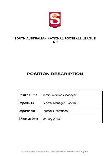 Position for Football league positions