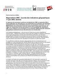 communiqué de presse de l'Ipi