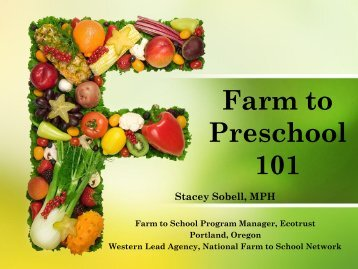 Farm to Preschool 101 - Ecotrust