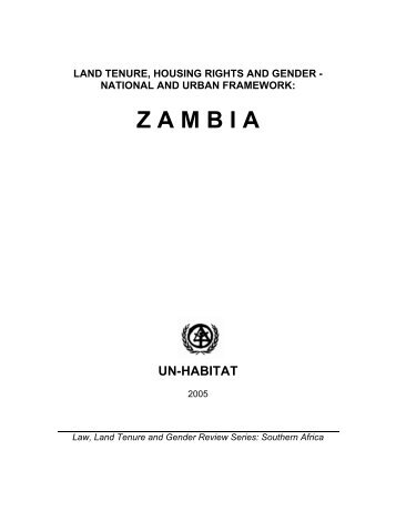 Land Tenure, Housing Rights and Gender