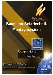 Baumann-Solartechnik Montagesystem 1-7