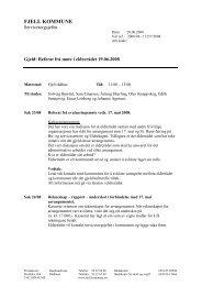 Referat frå møte i eldrerådet 19.06.2008 - Fjell kommune