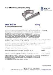 BOA ISO-KF Flexible Vakuumverbindung - BOA Group