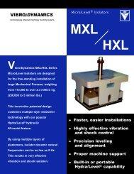 The MXL/HXL Design - Vibro/Dynamics Corporation