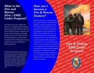 Fire Science/Firefighting - Charles County Public Schools