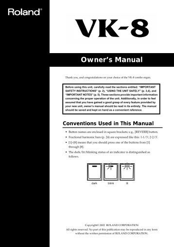 Owner's Manual - Musician's Friend
