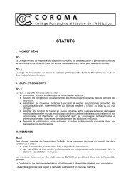 Voir les statuts en PDF - Collège romand de médecine de l'addiction