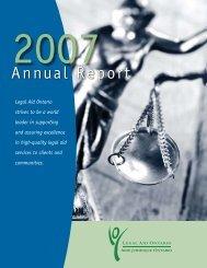2006/2007 Annual Report - Legal Aid Ontario